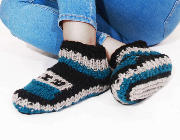 Sherpa Indoor Slipper Woolen Socks - Jessica - handmade items, shopping , gifts, souvenir