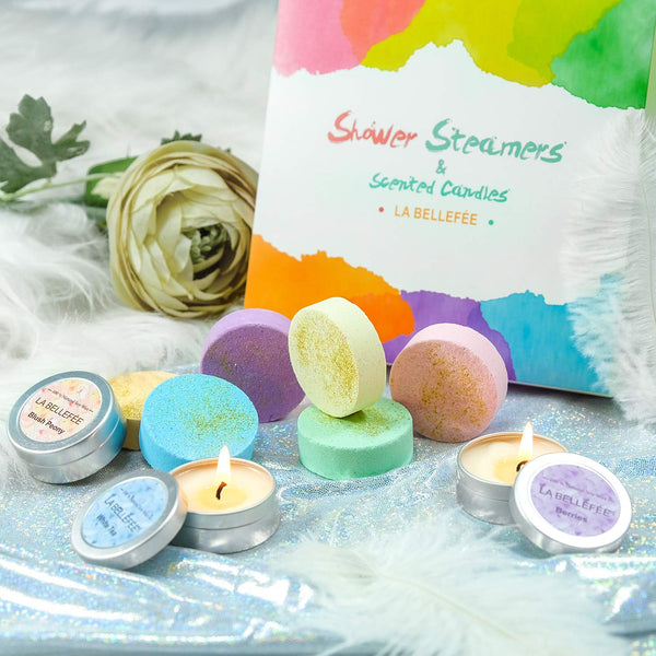 Bath Bomb and Scented Candles Gift Set Perfect for Bubble and Spa - handmade items, shopping , gifts, souvenir