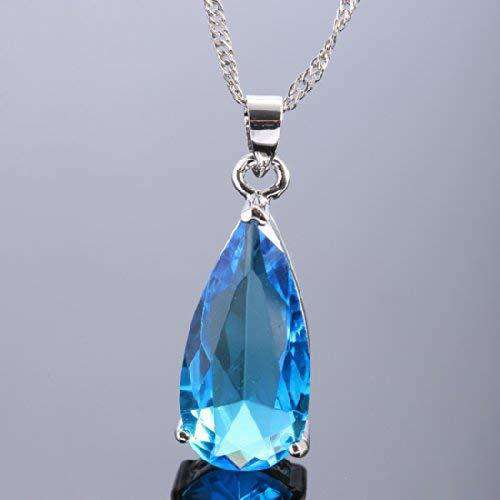 Teardrop Pendant with 18 inch Chain & Pear Cut Gemstones Gifts for Her - handmade items, shopping , gifts, souvenir
