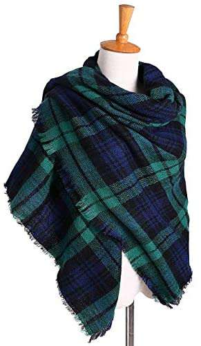 Women Scarves Plaid Blanket Neck Warm Tartan Wrap - handmade items, shopping , gifts, souvenir