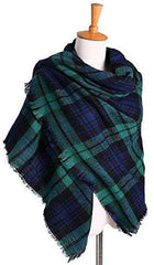 Women Scarves Plaid Blanket Neck Warm Tartan Wrap