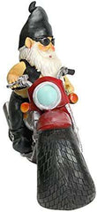 Design Toscano Axle Grease the Biker Garden Gnome Motorcycle Statue Polyresin Full Color