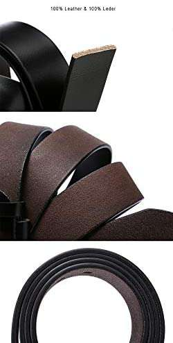 Mens Leather Belt Anti-scratched Buckle Soft Genuine Belts for Casual Jeans Dress - handmade items, shopping , gifts, souvenir