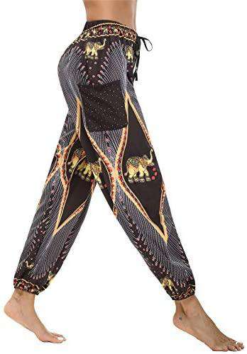 Women Hippie Pants Baggy Hippy Bohemian Patterned High Trousers - handmade items, shopping , gifts, souvenir