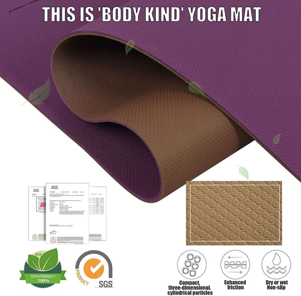 Eco Friendly TPE Yoga Mat Y8 Wide Thick Workout Exercise