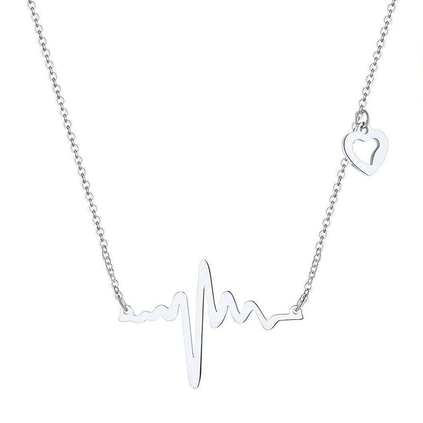 Heart Shape ECG Pendant Necklace