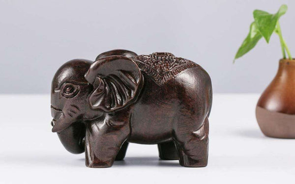 Elephant Wooden Statue Home Decoration - handmade items, shopping , gifts, souvenir