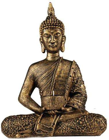 Buddha Tealight holder  gold bronze 10 inch height