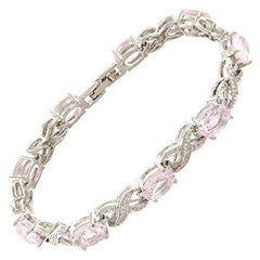 Link Tennis Bracelet & Oval Cut