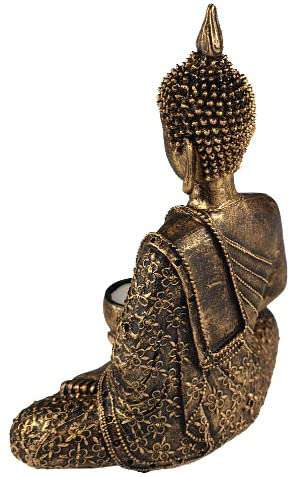 Buddha Tealight holder  gold bronze 10 inch height - handmade items, shopping , gifts, souvenir