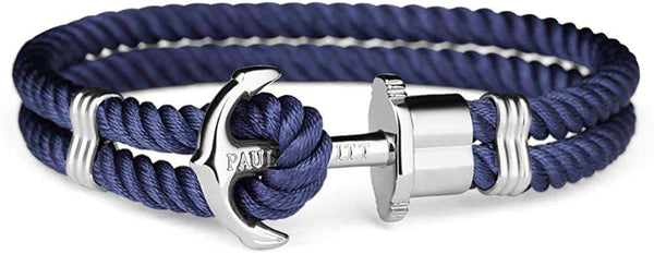 PAUL HEWITT Anchor Bracelet PHREP Made of Nylon in Navy Blue und Anchor Made of Edelstahl in Silver - handmade items, shopping , gifts, souvenir