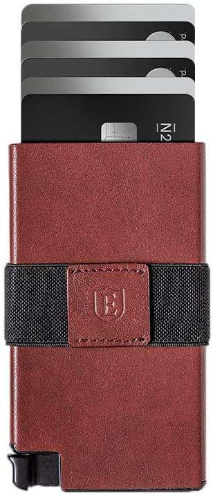 Slim Leather Wallet RFID Blocking Quick Card Access - handmade items, shopping , gifts, souvenir