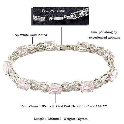 Link Tennis Bracelet & Oval Cut - handmade items, shopping , gifts, souvenir