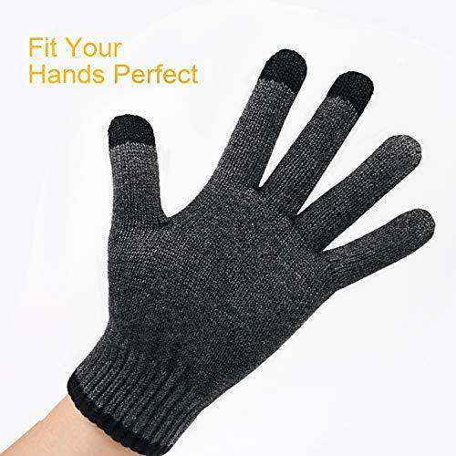 Winter Warm Knit Gloves Touchscreen Super Soft Thick Fleece Gloves Outdoor Windproof Driving Gloves for Men and Women - handmade items, shopping , gifts, souvenir