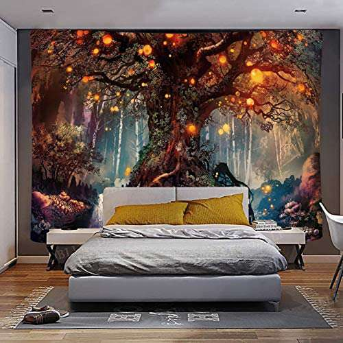 Magical Forest Tapestry Life Tree Wall Hanging For Bedroom - handmade items, shopping , gifts, souvenir