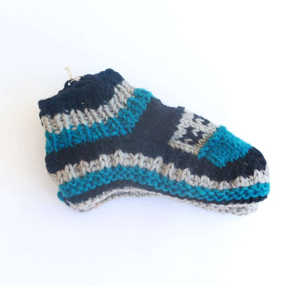 Sherpa Indoor Slipper Socks - Emma - handmade items, shopping , gifts, souvenir