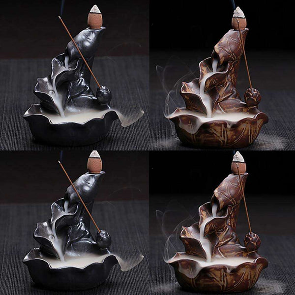 Incense Burner Home Ceramic Backflow  Cone Holder - handmade items, shopping , gifts, souvenir