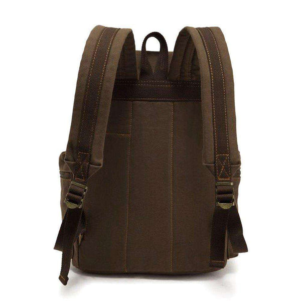Vintage Unisex Casual Leather Backpack Canvas Rucksack - handmade items, shopping , gifts, souvenir