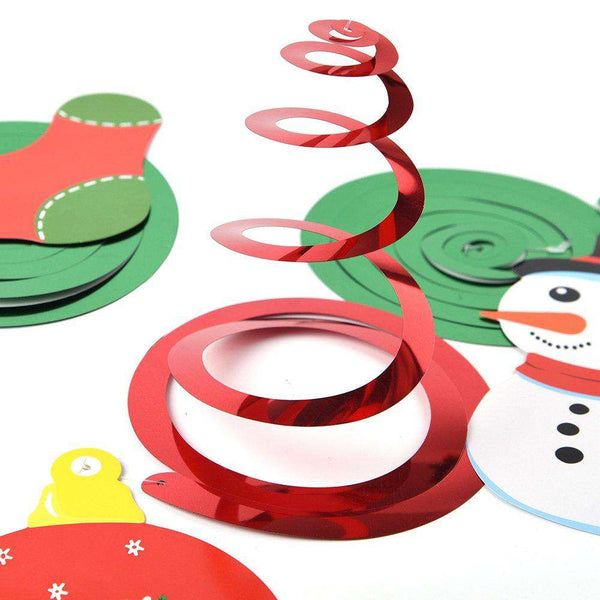 Christmas Hanging Swirl Decorations Kit - handmade items, shopping , gifts, souvenir