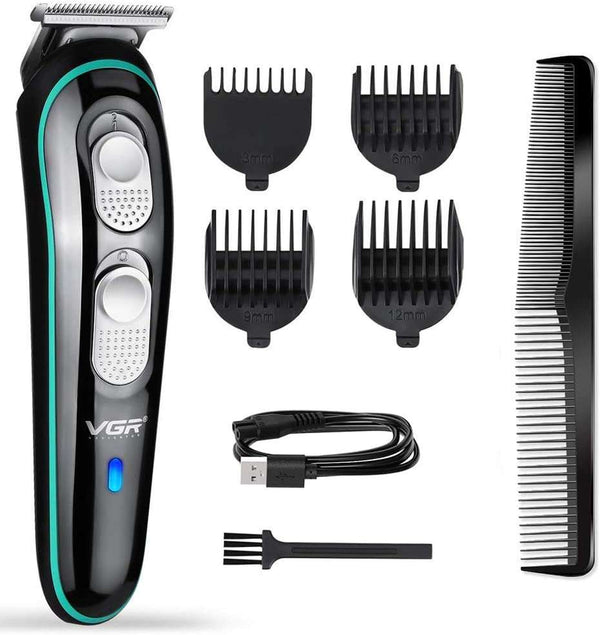 Hair Clipper Men USB Rechargeable Beard Trimmer Cordless Grooming Kit