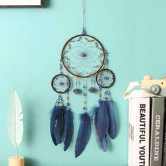 Handmade Dream Catcher With Feather And Beads For Wall Hanging Home Decoration Ornament Craft