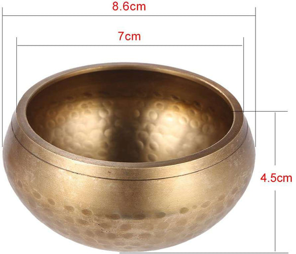 2.8 Inch Handmade Tibetan Bell Metal Singing Bowl with Striker for Meditation Healing Relaxation Yoga - handmade items, shopping , gifts, souvenir