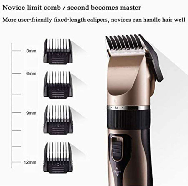 Hair Clippers for Men Hair Cutting Kit Electric Rechargeable Beard Trimmer Cordless Low Noise - handmade items, shopping , gifts, souvenir