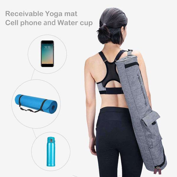 Yoga Mat Bag Carrier Bags Waterproof Canvas Cover With Pockets