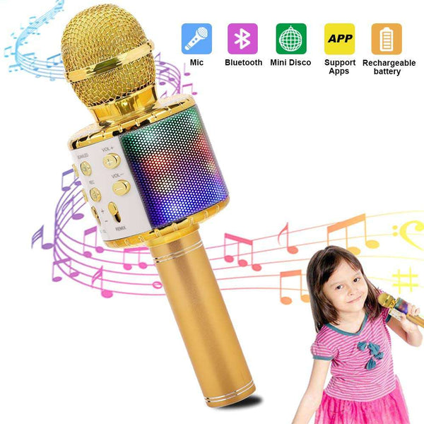 Wireless Karaoke Microphone Bluetooth Handheld Portable Speaker Home - handmade items, shopping , gifts, souvenir