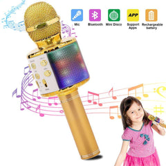 Wireless Karaoke Microphone Bluetooth Handheld Portable Speaker Home