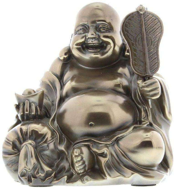 Lucky Polished Bronze Hand Crafted Sitting Buddha Gift Ornament - handmade items, shopping , gifts, souvenir