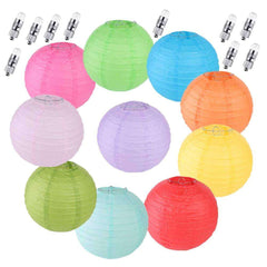 20 pcs Paper Lanterns Decorative Hanging Round Lantern
