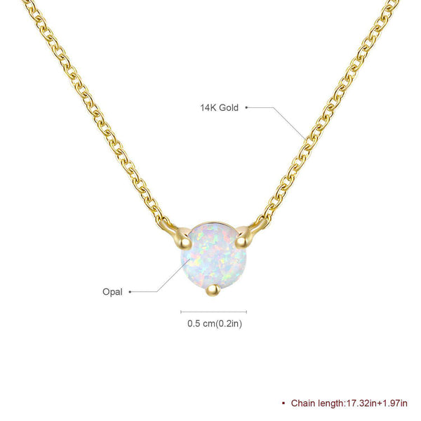 Yellow Gold Plated Opal Pendant Necklace Gifts for Her - handmade items, shopping , gifts, souvenir