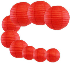 9 pcs Party Favor Chinese Red