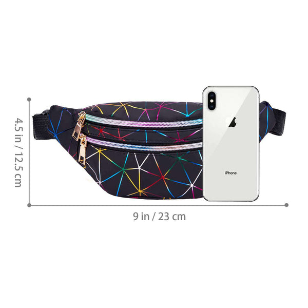 Holographic Fanny Packs for Women Waterproof Waist Packs - handmade items, shopping , gifts, souvenir