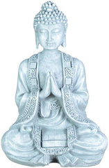 Buddha Figurine Meditation Grey Garden Ornament and Home Decor