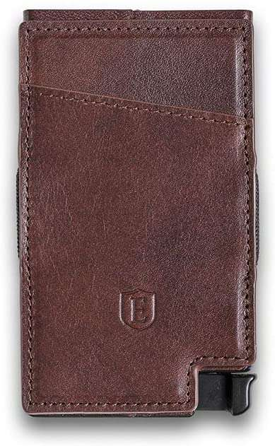 Slim Leather Wallet RFID Blocking Quick Card Access