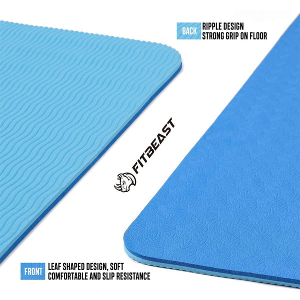 6mm Thick Non-Slip Exercise Yoga Mat TPE Eco-Friendly Fitness Mat - handmade items, shopping , gifts, souvenir