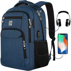 Travel Laptop Backpack with USB Charging and Headphone Port