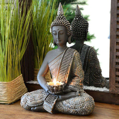 Buddha Figurine 31 cm with Chandelier Zen For Indoor Decoration 31 cm