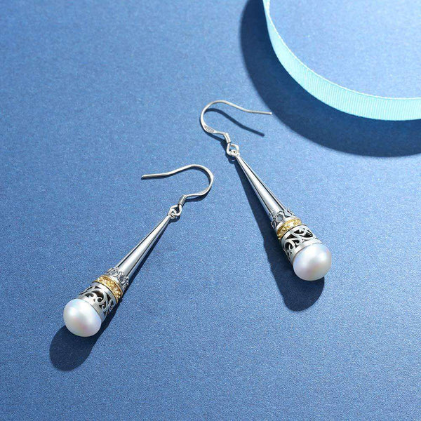 Real 925 Sterling Silver Vintage Drop Earring Gifts for Her - handmade items, shopping , gifts, souvenir