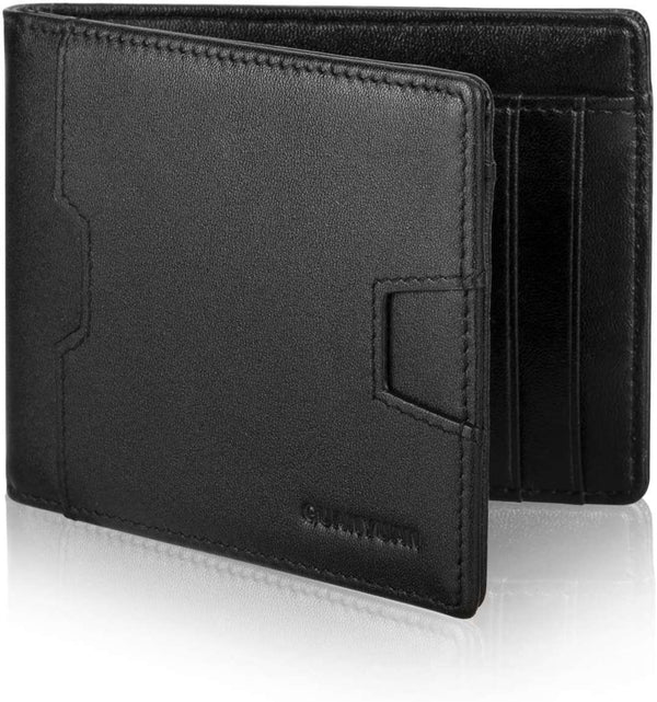 Men Leather Wallet with Money Clip RFID Blocking Slim Wallet - handmade items, shopping , gifts, souvenir