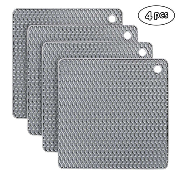 Silicone Table Mat 4 Pieces Silicone Trivet Non-Slip