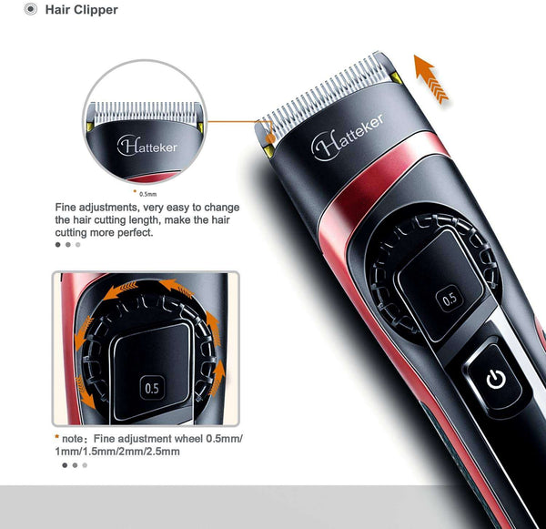 Hair Clippers for Men Cordless Hair Trimmer Waterproof Hair Cutting Kit