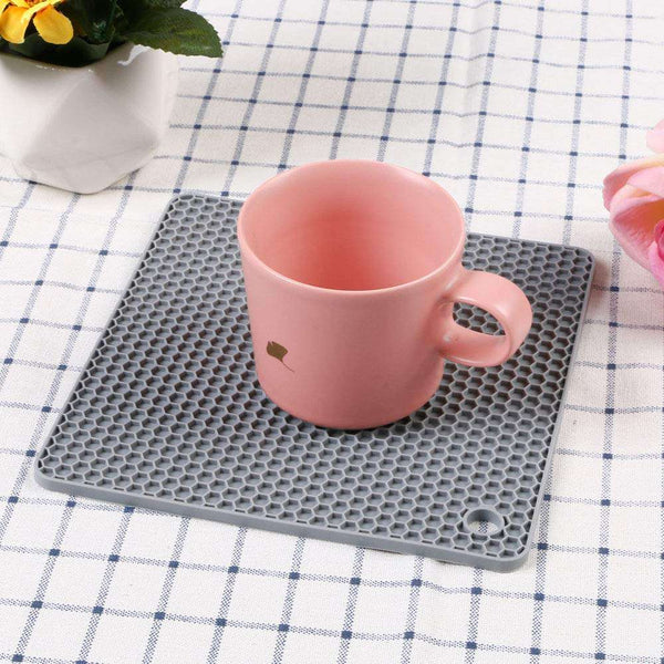 Silicone Table Mat 4 Pieces Silicone Trivet Non-Slip - handmade items, shopping , gifts, souvenir