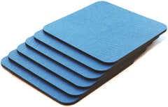 Coaster Set of 6 Mediterranean Blue Coasters 10 cm x 10 cm
