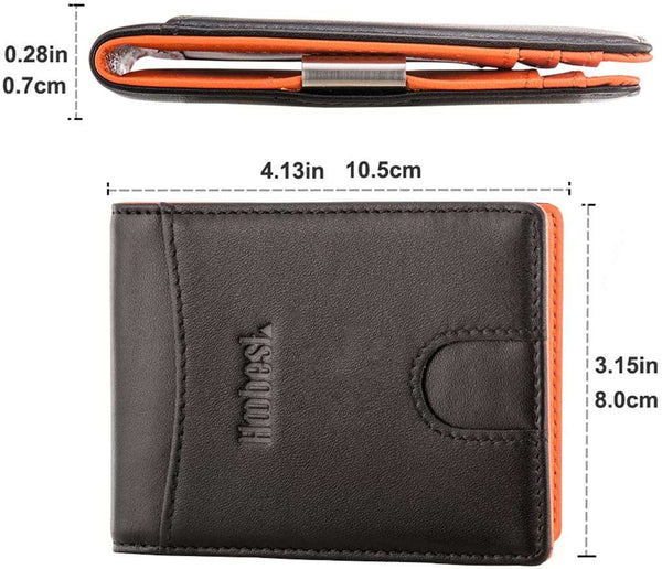 RFID SIim Wallet with Money Clip Wallet - handmade items, shopping , gifts, souvenir