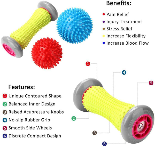Foot Massager Roller & Spiky Balls