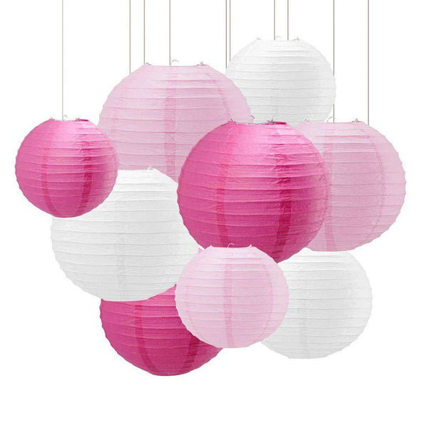 18 PCS Colorful Round Paper Lanterns - handmade items, shopping , gifts, souvenir