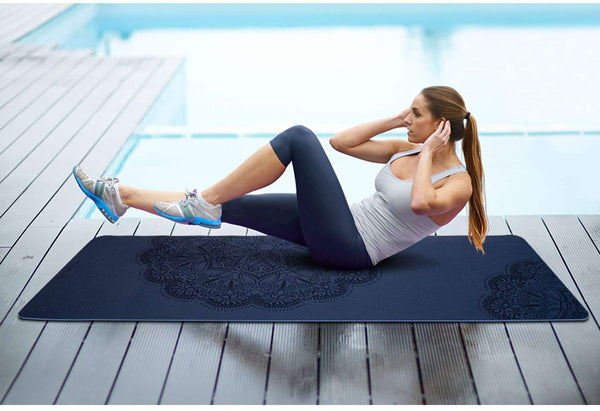 Fitness Mat TPE Eco Friendly Non Slip Exercise Mat - handmade items, shopping , gifts, souvenir